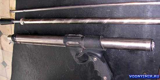 В итоге получаем прекрасное ружье для подводной охоты, сделанное своими руками, которое совсем не хуже...